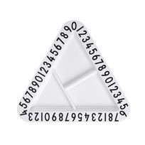 Design Letters//  Melamine Triangular Snackplate