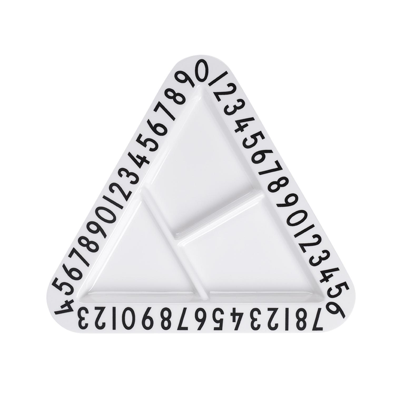 צלחת  מעוצבת - Design Letters Triangular Plate