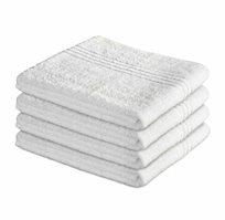 סט 4 מגבות אמבט בצבע לבן רכות ומפנקות מגבות ערד