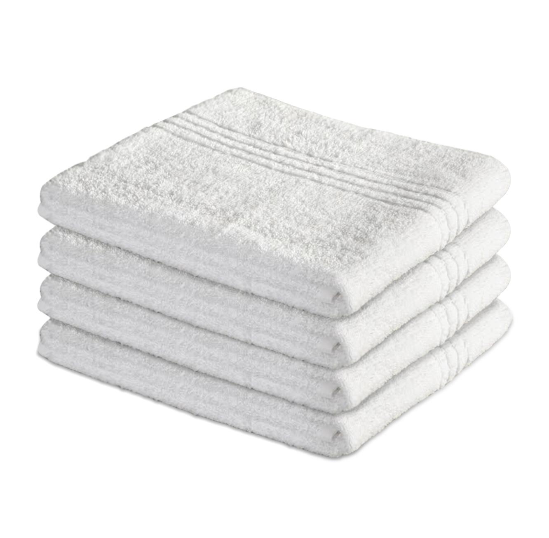 סט 4 מגבות אמבט בצבע לבן מגבות ערד