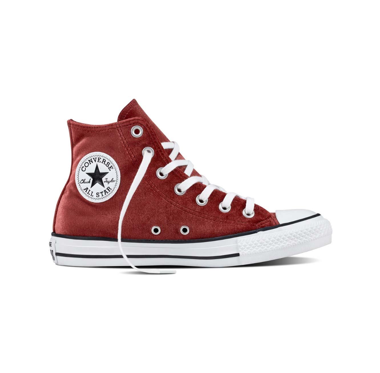 נעלי סניקרס אול סטאר גבוהות לנשים דגם 557932 - בורדו