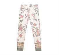 מכנסיים בגזרה צמודה עם הדפס פרחוני Desigual Floral Print לנשים צבעוני
