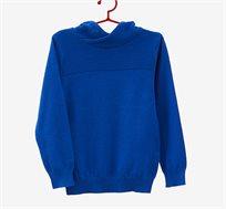 סוודר 100% כותנה לילדים בצבע כחול