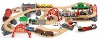 סט רכבות משא ונוסעים דלוקס ענק 87 חלקים מעץ