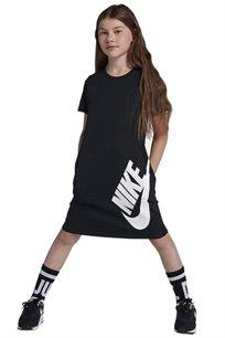 שמלת טי שרט לבנות - שחור