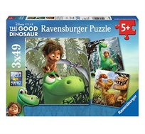 פאזל עם הדמויות, דינוזאור והילד המכיל 49X3 חלקים מבית Ravensburger