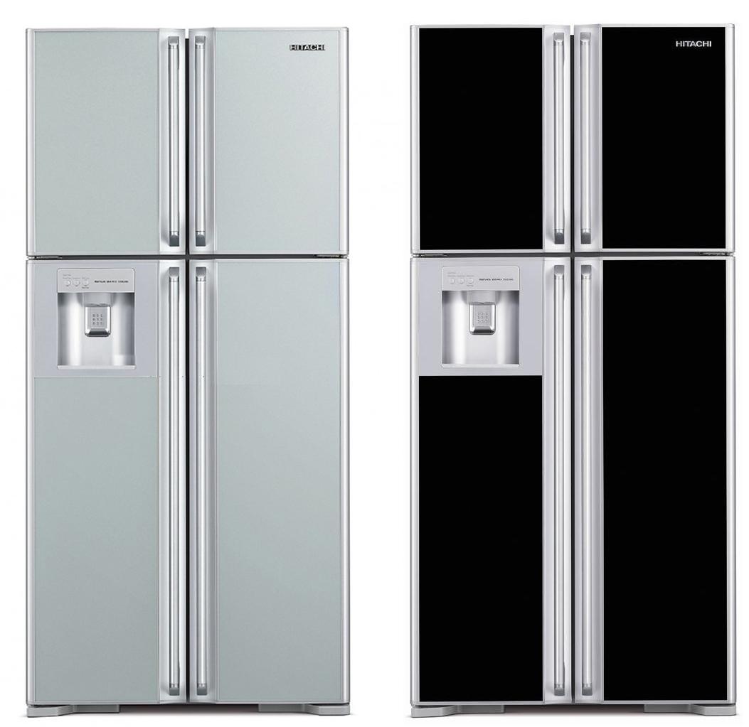 ברצינות מקרר 4 דלתות מפואר עם בר מים RW660 GBK מבית HITACHI הכולל מדחס OE-99