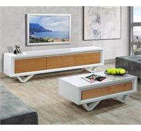 מערכת מזנון ושולחן לסלון בעיצוב יוקרתי