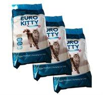 """3 יורו-קיטי Euro kitty - חול מתגבש 10 ק""""ג"""