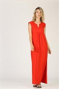 שמלה כיווצים מקסי - CUBiCA