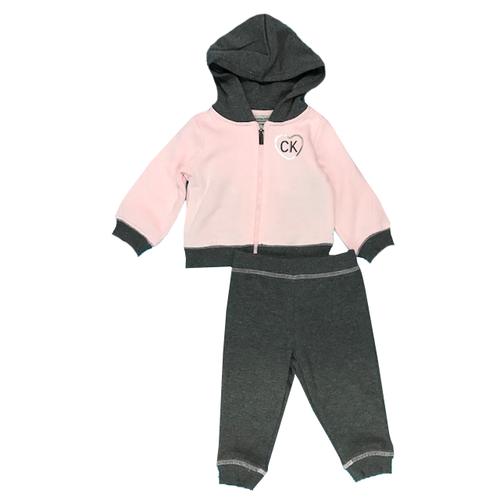 Calvin Klein חליפת קפוצ'ון (7-3 שנים) - ורוד