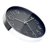 שעון קיר מעוצב בצבע שחור-לבן לעיצוב הבית ריקו ברנד