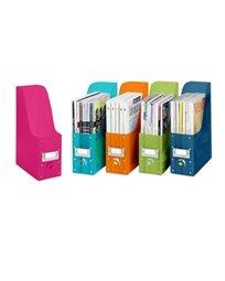 ארגוניות פלסטיק למגזינים- מגוון צבעים- סט של 5
