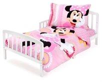 סט מצעים 3 חלקים למיטת תינוק/מעבר (דגם חדש) - מיני מאוס עם פפיון