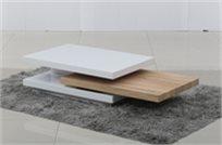 שולחן קפה Mdf בצבע לבן משולב בוק