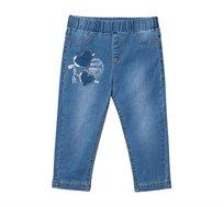 טייץ 7/8 דמוי ג'ינס בשילוב פא'צים לילדות Desigual דגם Fernandez בצבע כחול