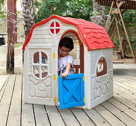 בית ילדים מתקפל מפלסטיק למרפסת או לחצר תוצרת ישראל מנגנון קיפול ייחודיי לאחסון קל ומהיר S-free - משלוח חינם - תמונה 2