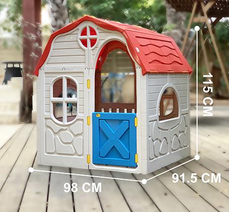 בית ילדים מתקפל מפלסטיק למרפסת או לחצר תוצרת ישראל מנגנון קיפול ייחודיי לאחסון קל ומהיר S-free - משלוח חינם - תמונה 6
