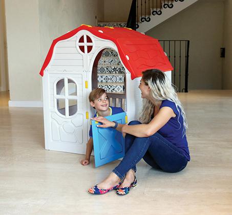 בית ילדים מתקפל מפלסטיק למרפסת או לחצר תוצרת ישראל מנגנון קיפול ייחודיי לאחסון קל ומהיר S-free - משלוח חינם - תמונה 4