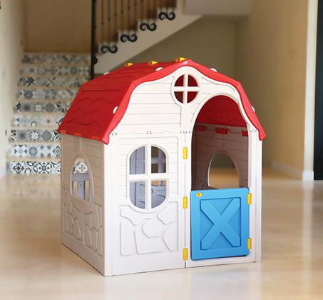 בית ילדים מתקפל מפלסטיק למרפסת או לחצר תוצרת ישראל מנגנון קיפול ייחודיי לאחסון קל ומהיר S-free - משלוח חינם - תמונה 3