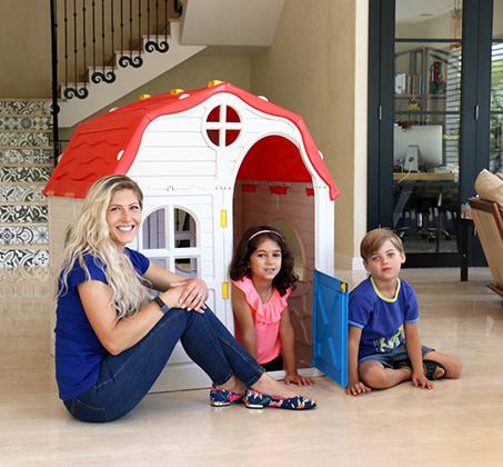 בית ילדים מתקפל מפלסטיק למרפסת או לחצר תוצרת ישראל מנגנון קיפול ייחודיי לאחסון קל ומהיר S-free - משלוח חינם - תמונה 5