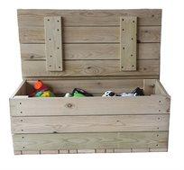 ארגז אחסון עץ מלא, המשמש גם כספסל ישיבה, לעיצוב החדר במראה טבעי, נקי ונעים