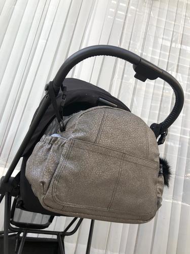 Bag - B תיק החתלה- דיימונד מטאלי