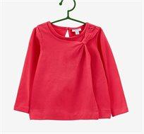 טי שרט סטרצ'ית עם שרוולים ארוכים OVS לילדות בצבע אדום