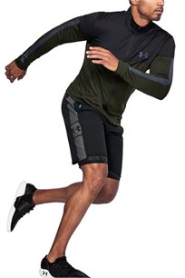 מכנס קצר לייף סטייל UNDER ARMOUR לגבר בצבע שחור/אפור
