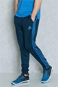 מכנס ספורט סקיני ADIDAS לגברים בצבע כחול עם פסים בהירים