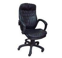 כיסא מנהלים לשימוש במשרד מרופד דמוי עור שחור דגם מגה