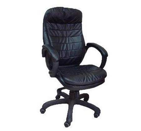 כסא מנהל בריפוד דמוי עור שחור לבית ולמשרד
