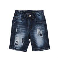 Oro ג'ינס(12 חודשים -16 שנים) - ברמודה פאטצ' כחול ללא קיפול