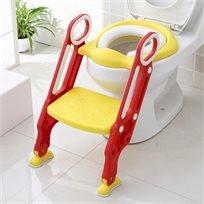 ישבנון מרופד לפעוט עם מונע החלקה ומונע התזה - צהוב/אדום