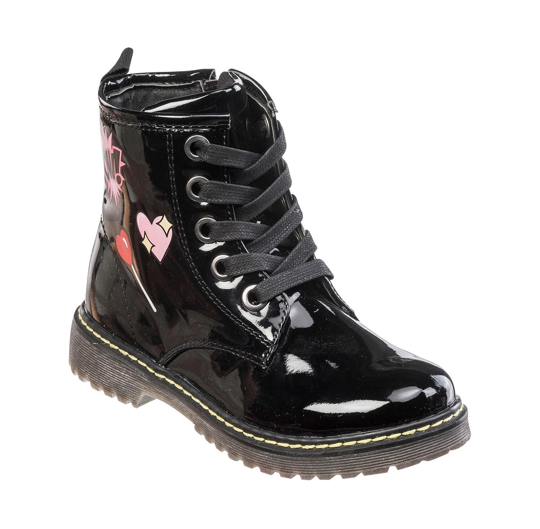 מגפי בנות בהדפס מצויר דגם בלייז קנדי - שחור