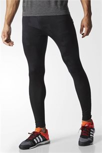 טייץ ריצה ארוך Adidas לגבר בהדפס שחור צבאי