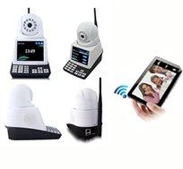 היישר מדגמי 2014! מצלמת IP אלחוטית לאבטחה עם מסך LCD המאפשרת לבצע שיחות וידאו בזמן אמת על צג המסך