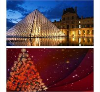 """חג המולד בפריז! טיסה בלבד או חבילת נופש ע""""ב לינה בלבד החל מכ-€399* לאדם!"""