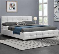 מיטה זוגית בריפוד דמוי עור דגם OMER