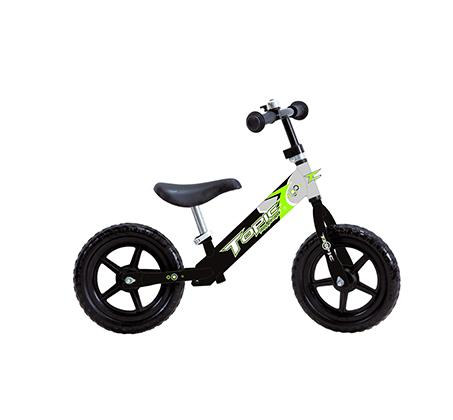 אופני איזון במידה 12 עם שלדת מתכת קלה + צופר מתנה