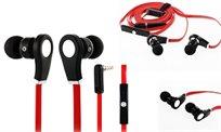 זוג אוזניות סיליקון נוחות לשימוש, כולל דיבורית וכפתור סיום שיחה מובנה - משלוח חינם!