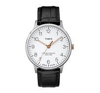 שעון יד אנלוגי עם תאורה לגברים בצבע שחור