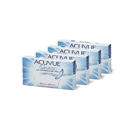 מארז 8 חבילות עדשות מגע Acuvue Oasys למשך שנה