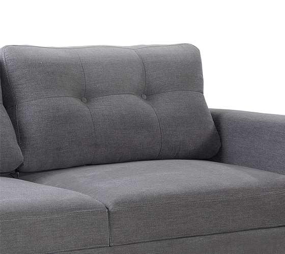 ספת תלת ודו מושבית מבד בעיצוב מודרני נוח ואיכותי דגם ליבורנו מסדרת דגמי 2018 LEONARDO - תמונה 7