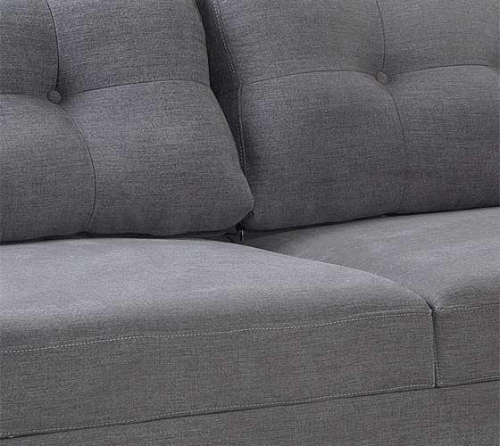 ספת תלת ודו מושבית מבד בעיצוב מודרני נוח ואיכותי דגם ליבורנו מסדרת דגמי 2018 LEONARDO - תמונה 3