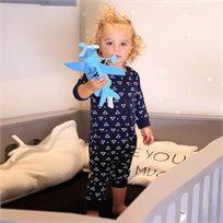 ORO אוברול (3 חודשים - 2 שנים) כחול משולשים