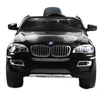רכב ממונע 12V חזק ואיכותי לילדים דגם BMW X6 עם מד חיווי הסוללות