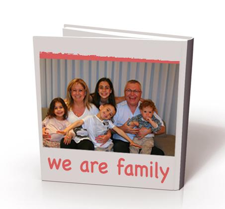 מתנה מושלמת ליום המשפחה! אלבום 15*15 בכריכה קשה, 24 עמודים - משלוח חינם - תמונה 4