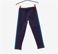 מכנסי פוטר סטרצ'יות OVS לילדים בצבע כחול עם פסים נוצצים