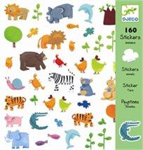 יצירה - 160 מדבקות חיות צבעוניות - Djeco